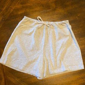 Pro Spirit light gray knit shorts with Drawstring